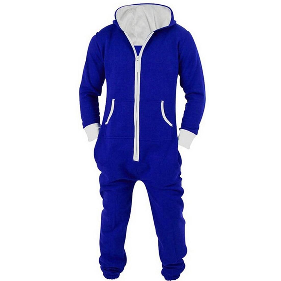 2018 Mode Trainingsanzug Overall Herren Slim Fit Langarm Sweatshirt Hoodies Casual Lange Hosen Für Männer Overalls Schwarz Blau Xxl Und Ein Langes Leben Haben.