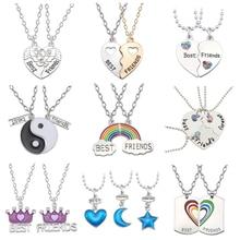 e9b1464ecc4c8a Best Friend Necklace Charm Lady Crystal Heart Tai Chi Crown Best Friend  Forever Necklace Pendant Friendship