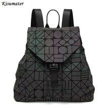 2017 Серебристые рюкзак женщин геометрический, сумка Рюкзак Световой знаменитый логотип студента школьная сумка в наличии
