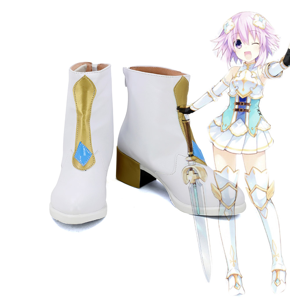 Hyperdimension Neptunia Neptune Cosplay Boots Shoes Custom Made