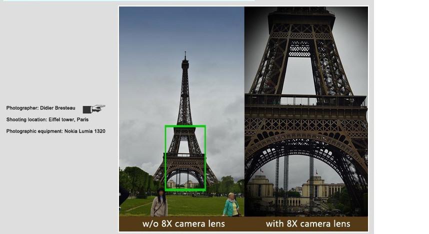 Elecguru Universal 8X Optical Zoom Telescope Camera Lens with Mini Tripod Holder for Mobile iPhone Samsung Galaxy S5 I9600 12