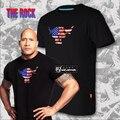 Caliente nuevo la roca roca de campeón Dwayne Johnson CottonT-shirt envío gratis