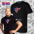Hot New THE ROCK Rock People's Champion Dwayne Johnson CottonT-shirt Free Shipping