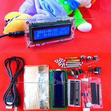 On sale LCD electronic clock microcontroller digital watch time Alarm clock thermometer + shell case Production Suite microcontroller 51