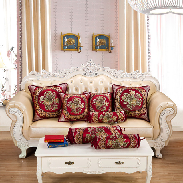 Bon CURCYA Wine Red Living Room Large Square Decorative Cushion Covers For Sofa  Chair European Candy Shape