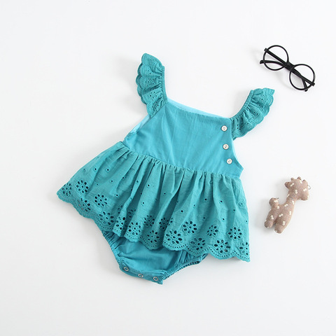 Baby Girl Clothes Summer Sleeveless Newborn Baby Dress Cotton Lace Infant Romper Style  Dress For Girls Princess Baby Clothes Karachi