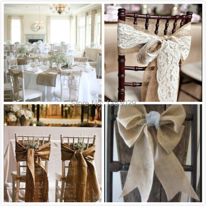 livraison gratuite 10 metres 36 cm largeur jute chemin de table tissu toile de jute pour ceintures de chaise de mariage toile de jute ruban de jute