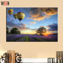 Unique DIY Digital Oil Painting By Number Gift lavender field Picture Wall Art For Living Room Canval