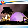 Livre air envio para porta, 10mdia * 5mH inflável gigante ao ar livre grande branco do partido do evento cúpula geodésica ar tenda