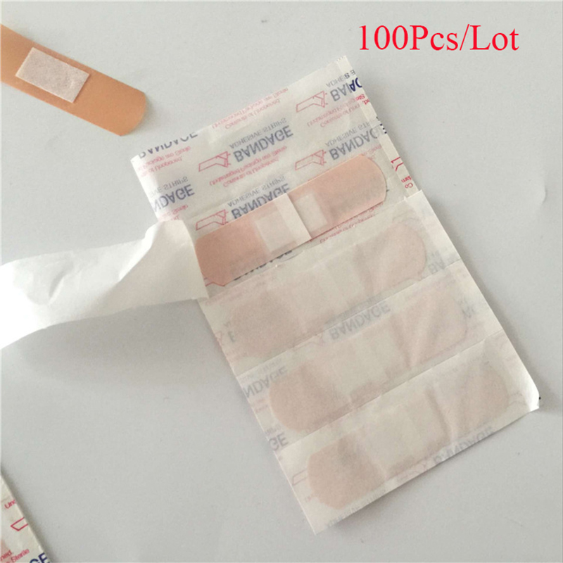 Band-Aids Waterproof Breathable Cushion Adhesive Plaster Wound Hemostasis Sticker Band First Aid Bandage Medical