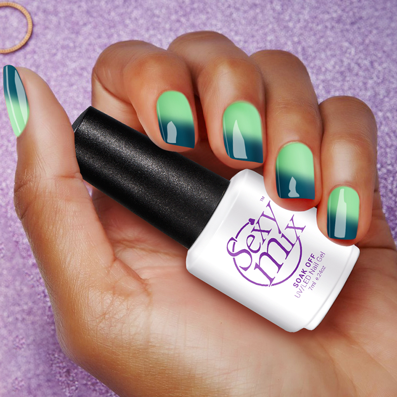 Gel Nail Polish French Manicure: Sexymix Temperature Mood Color Changing Nail Gel Polish