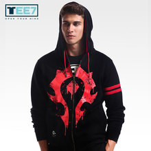 Size M-3XL TEE7 Brand Hoodies Men Print Hot Game WOW Male Hooded Sweatshirt Cotton Thick Jackets Winterjas Mannen Christmas Gift