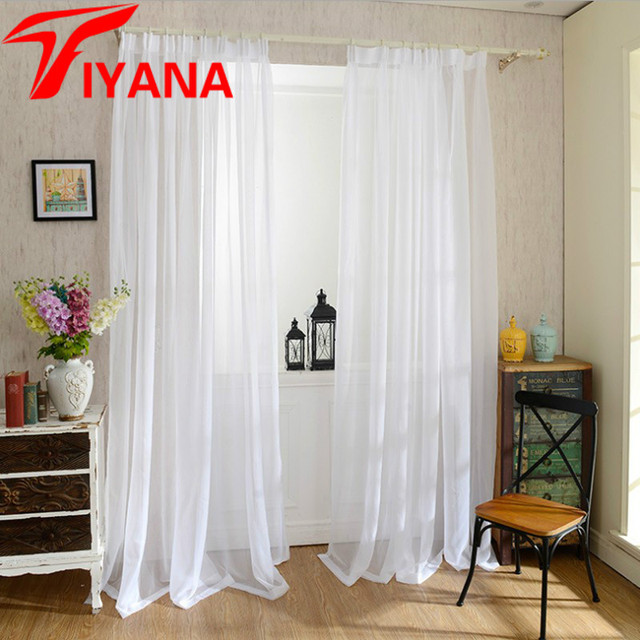 europa blanco slido hilado cortina de tul ventana cortinas para sala cocina moderna artculos para las - Cortinas Cocina Moderna