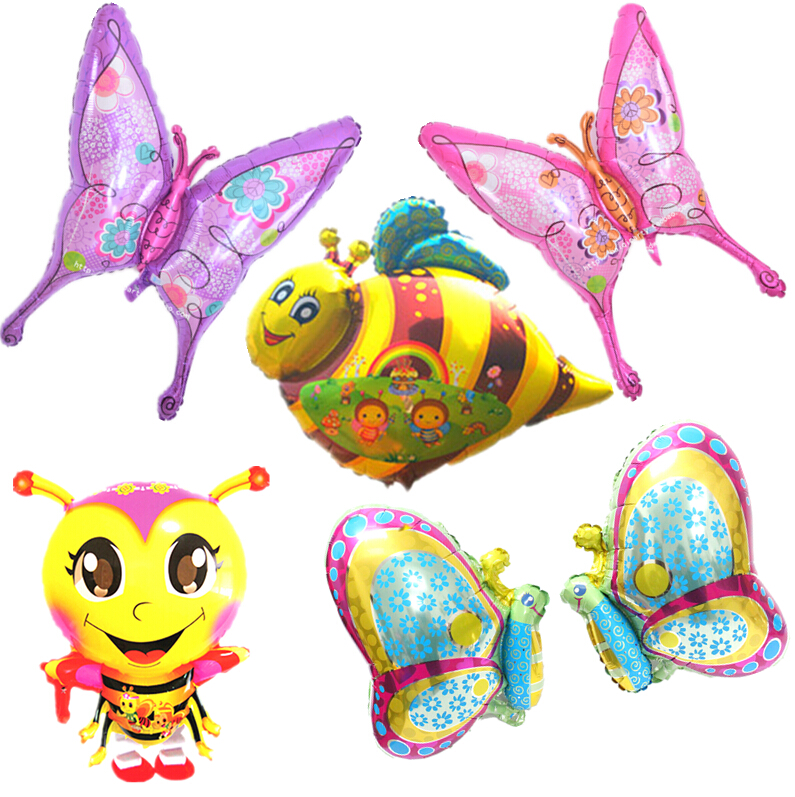 1pcslot New Insect Balloons Bee Butterfly Balloons Birthday