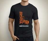 Tailored Shirts O Neck Short Sleeve Fashion Mens New The Mechanic Jason Statham Movie Gun Poster