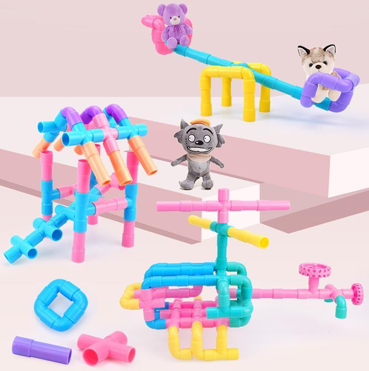 100% Waar 22 Pcs/42 Pcs Waterleiding Bouwstenen Assembleren Speelgoed Intellectuele Ontwikkeling Kleuterschool Baby Boy Kinderen Plastic Kan Herhaaldelijk Worden Omgedraaid.