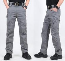 S ARCHON IX9 City wojskowe taktyczne spodnie w stylu Cargo mężczyźni SWAT bojowe spodnie wojskowe męskie dorywczo wiele kieszeni elastyczny bawełniany spodnie tanie tanio Zipper fly spandex COTTON Pełnej długości Camping i piesze wycieczki Pasuje prawda na wymiar weź swój normalny rozmiar
