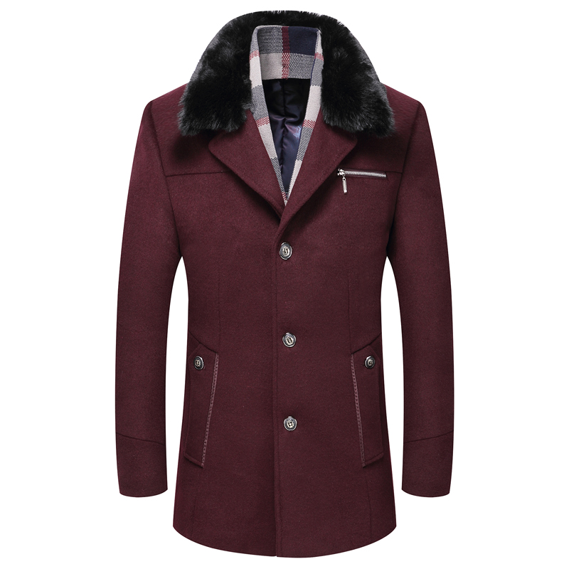 High Quality Winter Woolen Casual Jackets Coat Fashion Business Thicken Overcoat Men Wool Jacket Winter  Men Wool Jacket