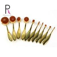10pcs Toothbrush Shape Oval Make Up Brush Set Makeup Brushes Pinceaux Maquillage Brochas Maquillaje Pincel Maquiagem
