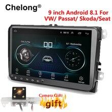 9 pollici Android 8.1 Doppio 2Din Auto radio GPS Auto radio 2 Din USB Per Volkswagen/Passat/GOLF /Skoda/Seat Wifi bluetooth 2din