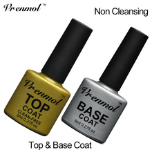 Vrenmol 1pcs Nail Gel Top Coat Top it off + Base Coat Foundation for UV Gel Polish Non Cleansing Top and Base Coat Primer