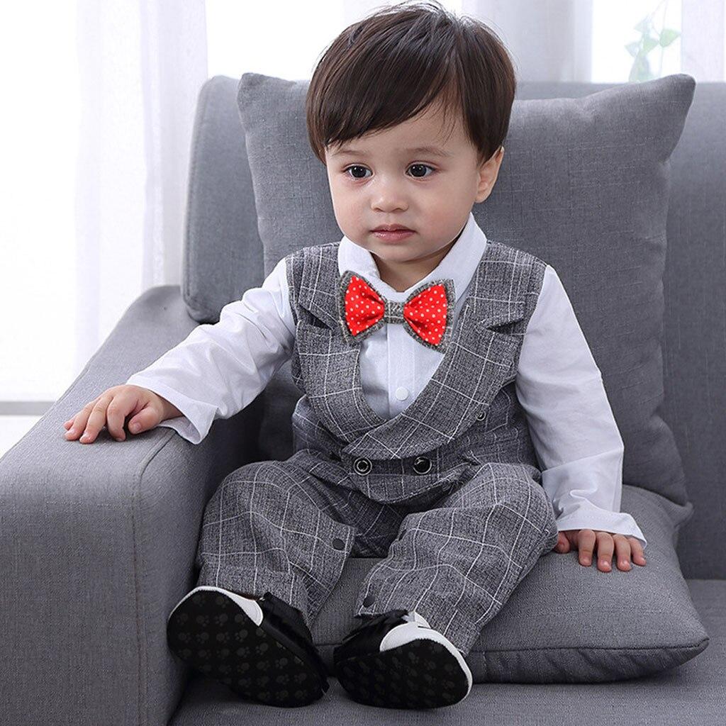 b9a618b6d Detail Feedback Questions about Fashion Boys Clothes Sets 5PCS Toddler Baby  Boy Bowtie Gentleman Vest T Shirt Pants Wedding Suit Sets Vetement bebe ...