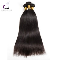 ShenLong Hair Peruvian Straight Hair 3 Bundles Remy Hair Bundles 100% Human Hair Bundles Can Buy With Closure Natural Color