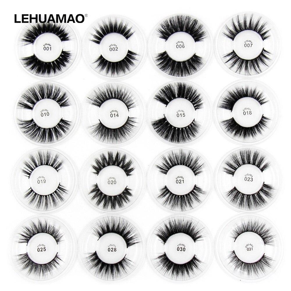 LEHUAMAO Silk Eyelashes 3D Mink Lashes Mink False Eyelashes Long Lasting Lashes Natural Mink Eyelashes Mink Makeup False Eyelas