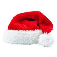 Детские Рождественские шапки унисекс, Рождественские Праздничные рождественские шапки для Санта-Клауса, Плюшевые рождественские шапки Y712