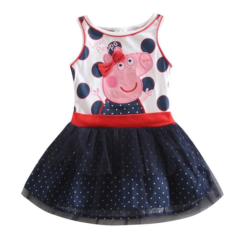 novatx kinderen meisje katoenen jurken met applique dieren zomer mode - Kinderkleding - Foto 3