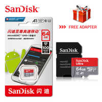 100% Nuovo Originale Sandisk Micro SD Scheda di Memoria EVO + 128 GB 64 GB 32 GB 80 MB/s C10 SDHC SDXC U1 U3 Carta di TF 64G 32G Schede flash