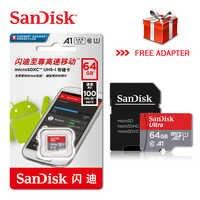 100% Original Novo Cartão de Memória Sandisk Micro SD EVO + 128 GB GB GB 80 32 64 C10 MB/s SDHC SDXC U1 U3 64G 32G Cartões de memória flash TF Cartão