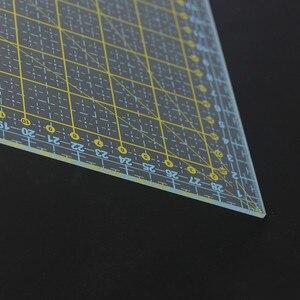 Image 2 - 스퀘어 30*30 Cm 패치 워크 눈금자 두꺼운 아크릴 투명한 퀼트 재봉 눈금자 재단사 스텐실 측정 도구 용 눈금자 절단