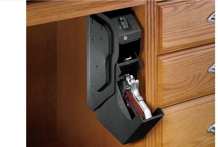 New Fingerprint pistol safe gun safe box Fingerprint safe