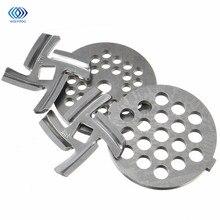 Бытовая мясорубка из нержавеющей стали, лезвие, запасные части, 2 шт., Мясорубка+ 2 шт., режущее лезвие для кухни MG30/60