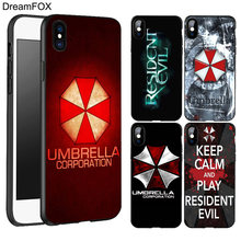 DREAMFOX L230 Resident Evil Umbrella Black Soft TPU Silicone Case Cover For Apple iPhone XR XS Max X 8 7 6 6S Plus 5 5S 5G SE(China)