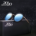 20/20 Original Brand Polarized Sunglasses Women Fashion Female Round Glasses Metal Frame Luxury Designer Revo Lens Oculos 7066