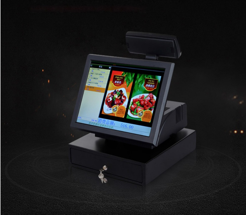 Micropos 15 inch pos system with capacitive touch screen and fanless cpu Micropos 15 inch pos system with capacitive touch screen and fanless cpu