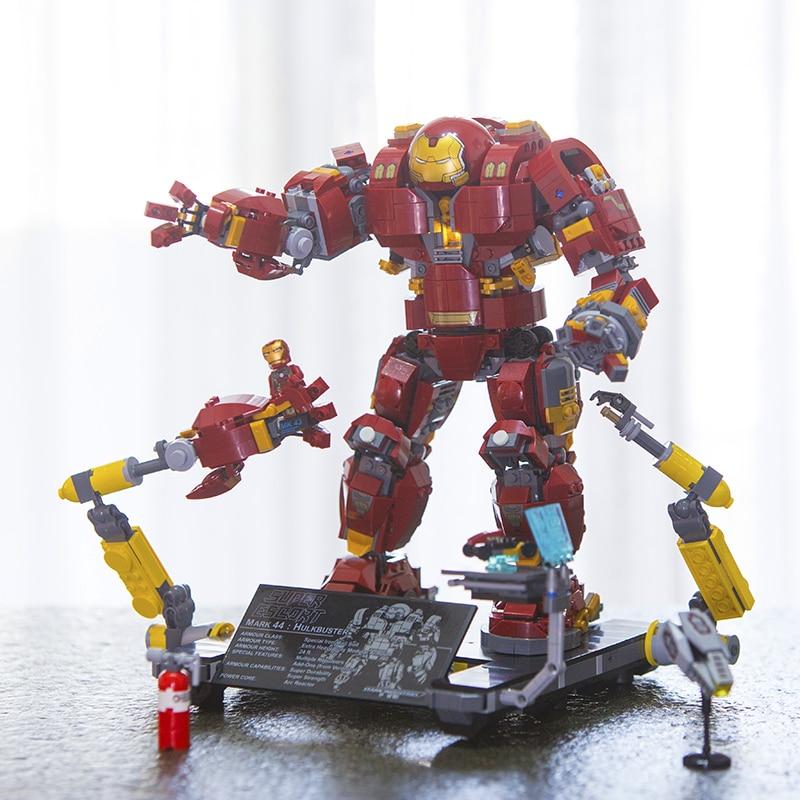 In Stock 07101 Super Genuine Hero Iron Man Anti Hulk Mech Toy Marvel Avengers Infinity War Building Bricks Blocks Model 76105-in Blocks from Toys & Hobbies    1