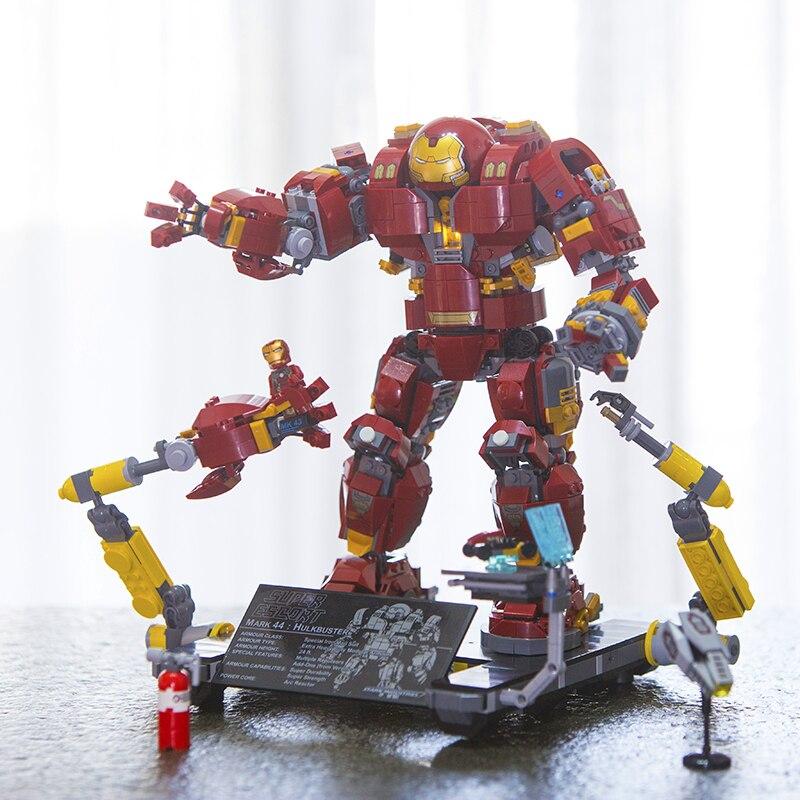 Lepin 07101 Super Genuine Hero Iron Man Anti Hulk Mech Toy Marvel Avengers Infinity War Building Bricks Blocks Model 76105 все цены