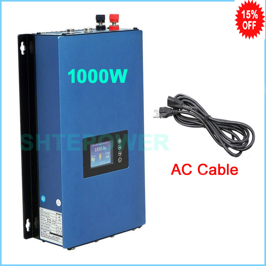 1000W Battery Discharge Power Mode/MPPT Solar Grid Tie Inverter connected No internal limiter DC 22-60v/45-90V AC 110v 220V цена