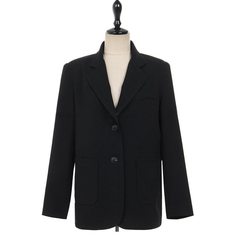 Black Women Blazers And Jackets 2018 New Spring Autumn Fashion Double Button Blazer Femenino Ladies Blazer Female