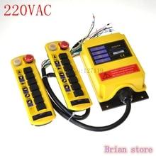 220VAC 1 Velocidad 2 Transmisor de 7 Canales de Control de la Grúa del Alzamiento Radio Remote Control System Controller