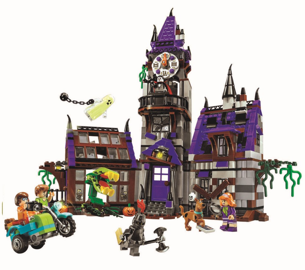 Bela 10432 Scooby Doo Mysterious Ghost House Building Block Toys Compatible Any Blocks Lepin