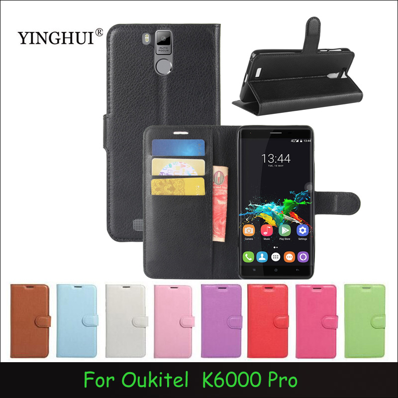 Case For Oukitel K6000 Pro Luxury Wallet PU Leather Case Stand Flip Card Hold Phone Cover Bags For Oukitel K6000 Pro
