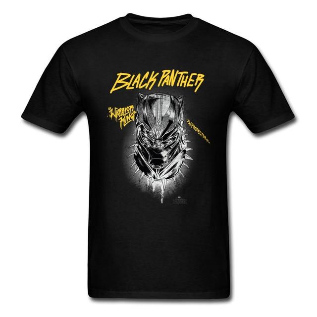 50ee548d6938 Marvel Protector Men T-shirts Custom Black Panther T Shirt Wakanda King  Tshirts Fashion Fighter Clothing Cotton Tops & Tees