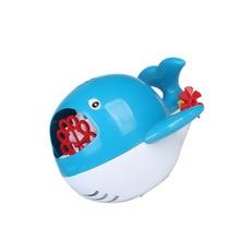 цена на Bubble Machine Submarine Whale Shape Automatic Light Music Bubble Blower Gun Baby Bath Playing Toy