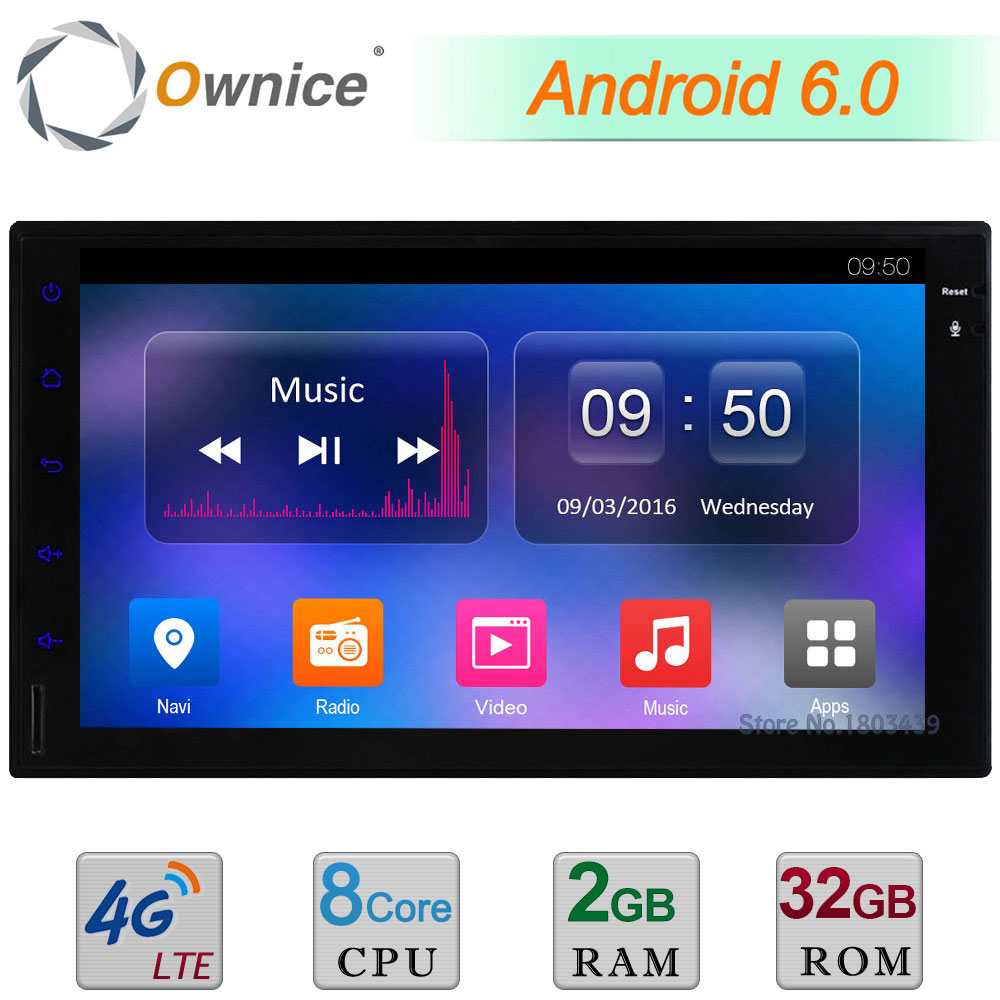 Octa 8 Core 2G RAM 32GB ROM 4G WIFI Android 6 0 7 BT DAB AUX