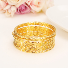 15 pc 24k Gold Women Gold big Dubai Bride Wedding Ethiopian Bracelet Africa Bangle Arab Jewelry Gold Charm girls India anklet| jhplated one piece womens wedding bridal bangle bracelet dubai bangle jewelry africa arab gold color