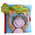 Animal Style Monkey Newborn Baby Toys Learning Educational Baby Cloth Books Cute Baby Ratte Mobiles Toy